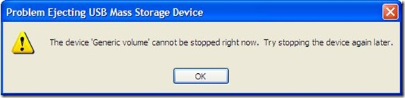 USB eject error